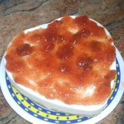 Торта с крема сирене без печене