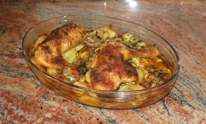 Печени пилешки бутчета на фурна