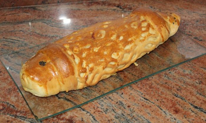 Пълнена риба в тесто