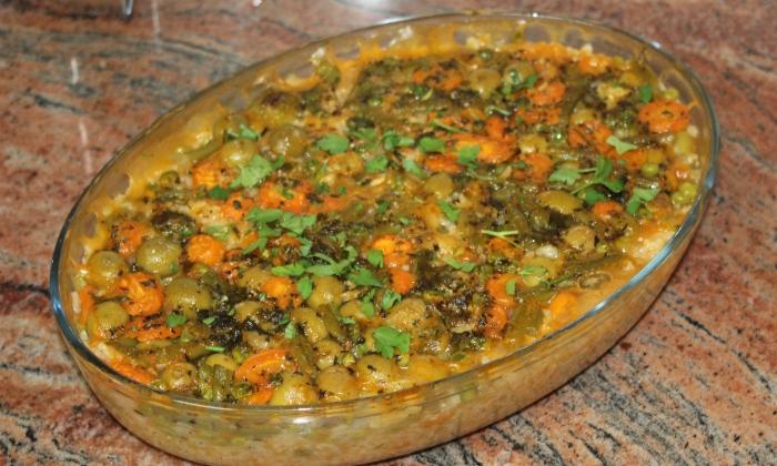 Ориз с маслини и зеленчуци
