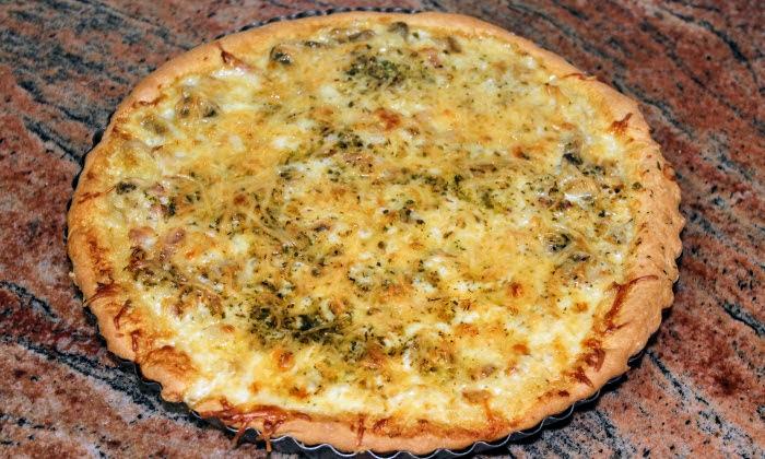 Пица с гъби и бекон