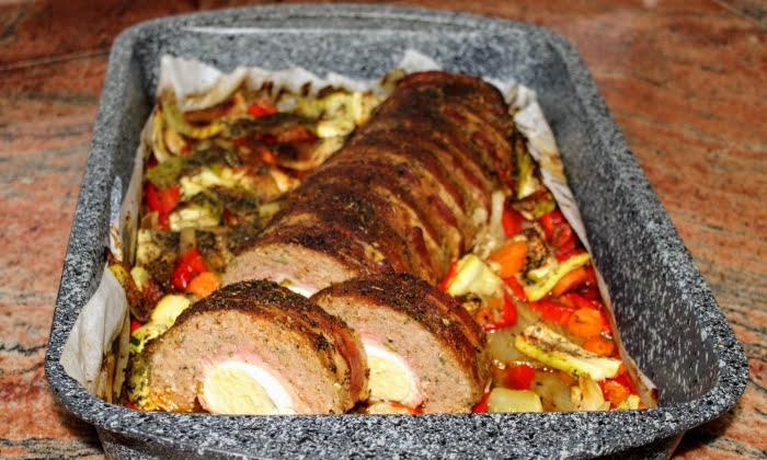 Руло Стефани със зеленчуци на фурна