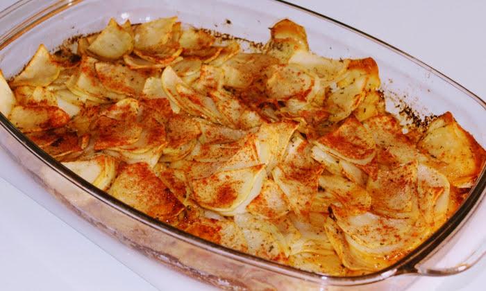 Печени картофи с масло и бира