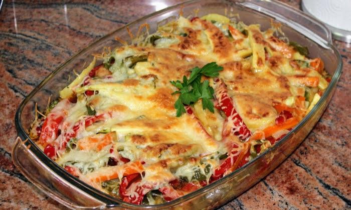 Запеканка със зеленчуци и кашкавал
