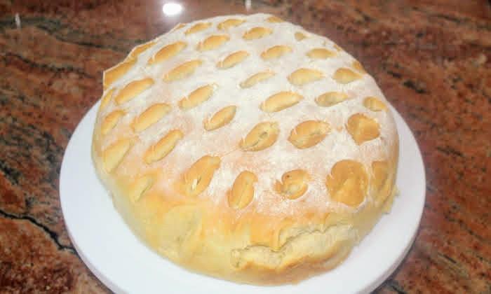 Кръгло пълнено хлебче със сирене, лесно, бързо и много вкусно