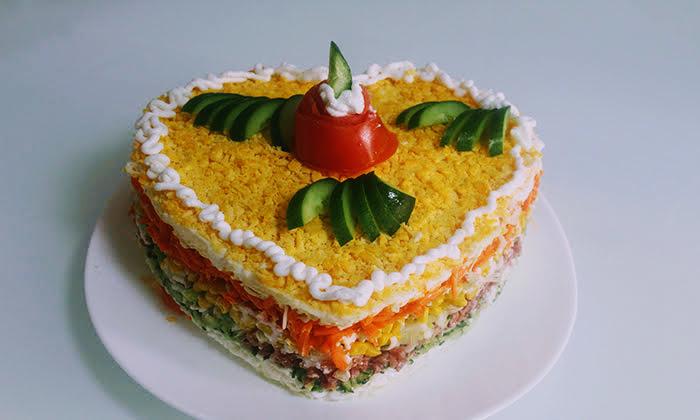 Редена цветна салата, за любимите ни хора