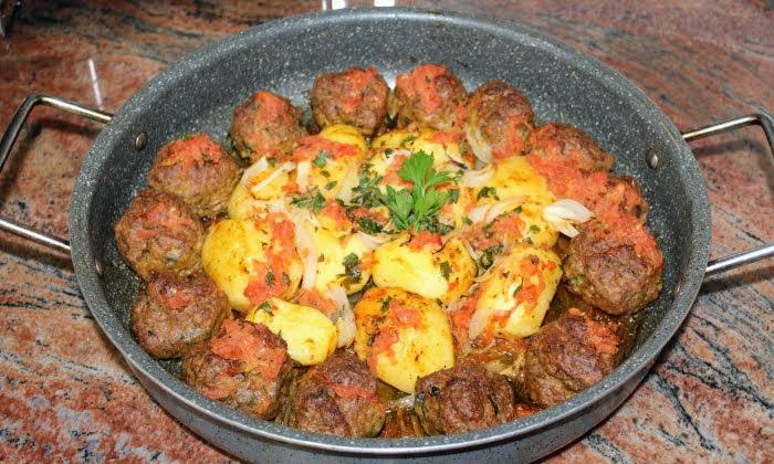 Кюфтета с картофи, без пържене
