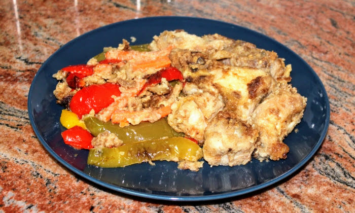 Пиле и зеленчуци със соев сос