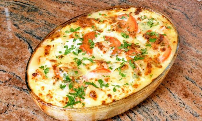Редена запеканка с картофи, шунка и кашкавал, много вкусна рецепта
